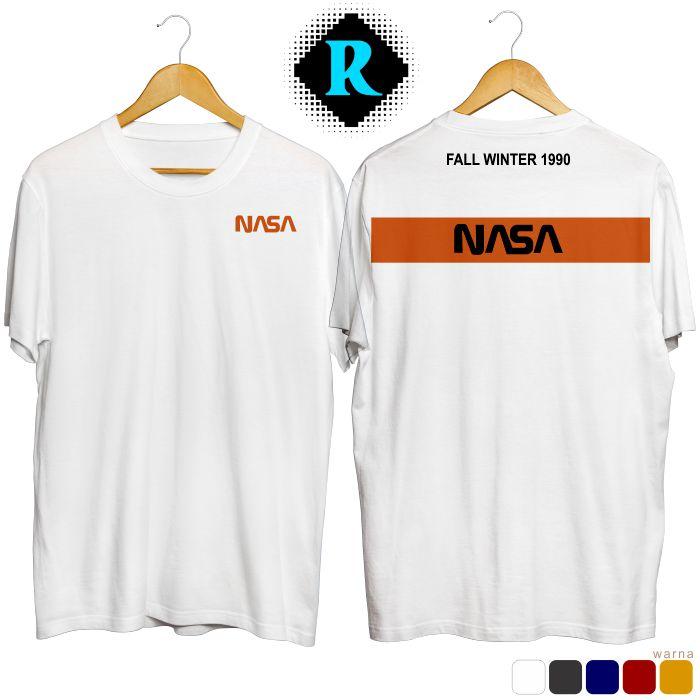 Kaos Nasa Original Cutton putih