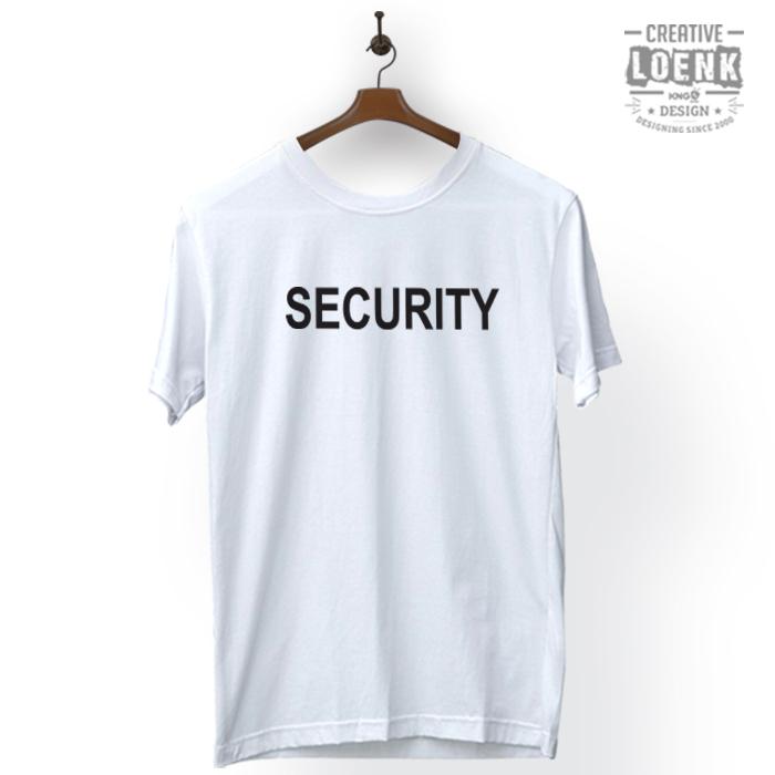 Baju Kaos Security Desain Simple Cotton Premium putih