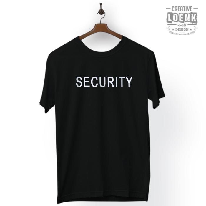 Baju Kaos Security Desain Simple Cotton Premium hitam