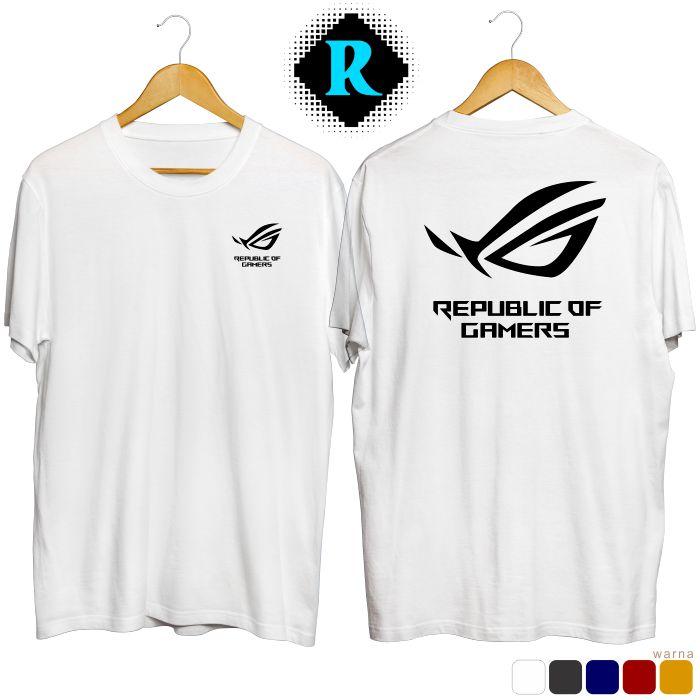 Kaos Republic Of Gamers Putih