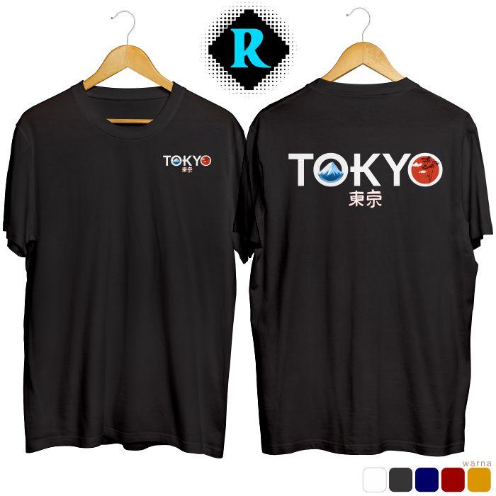 Kaos Distro Jepang Tokyo Premium Baju Keren Fashion Pria hitam