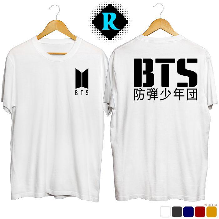 Baju Kaos BTS putih