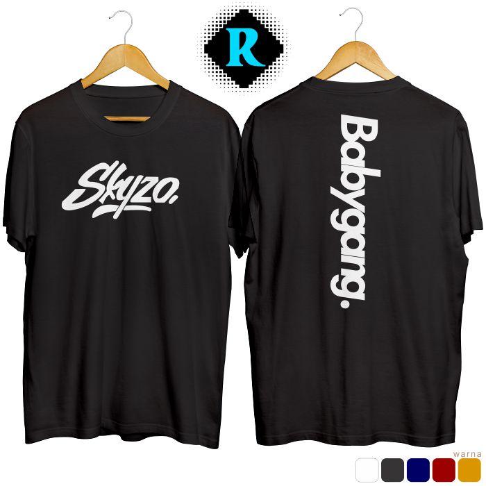 Kaos Babygang Original Cotton warna hitam