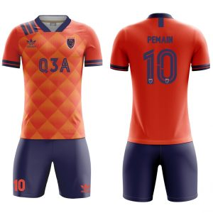 Bikin Jersey Bola Futsal Full Printing orange