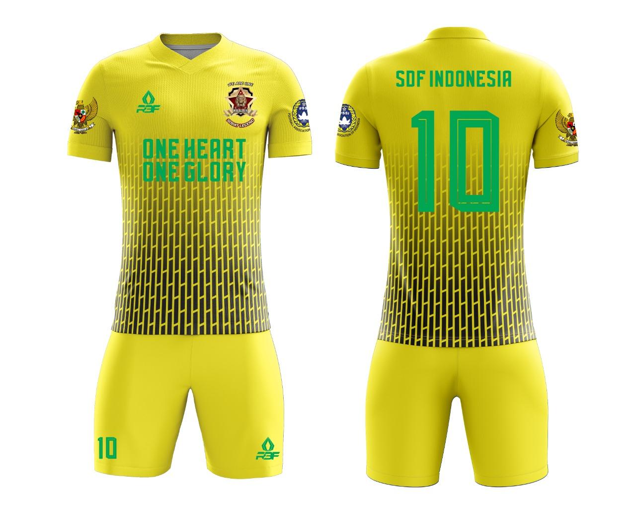 Jual Jersey Printing Satuan warna kuning