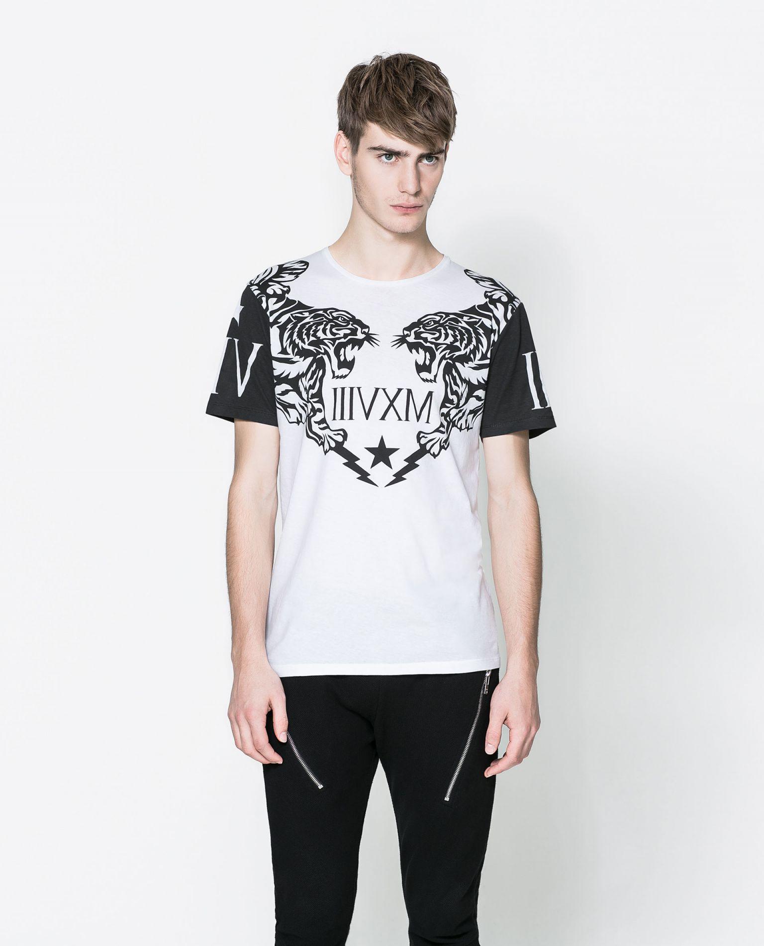 tshirt zara man free shoping